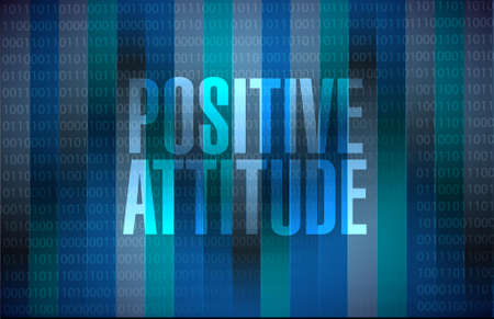 Positive attitude binary background sign concept illustration design graphic