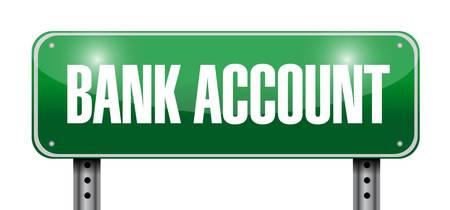 bank account green road sign concept illustration design graphic