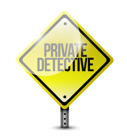 operative: private detective yellow warning sign concept illustration design graphic Illustration