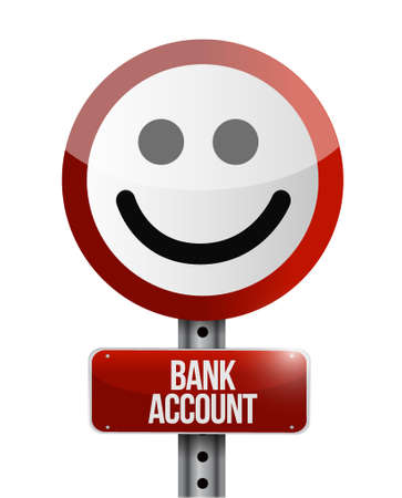 way bill: bank account like sign concept illustration design graphic