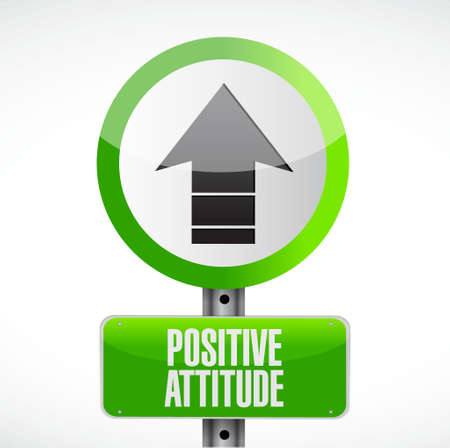 road design: Positive attitude road sign concept illustration design graphic Illustration
