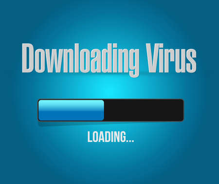downloading: downloading virus loading bar illustration design graphic
