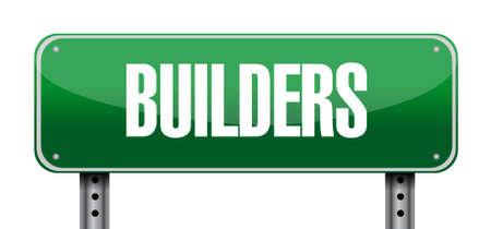 builders street sign concept illustration design graphic Stok Fotoğraf - 46670473