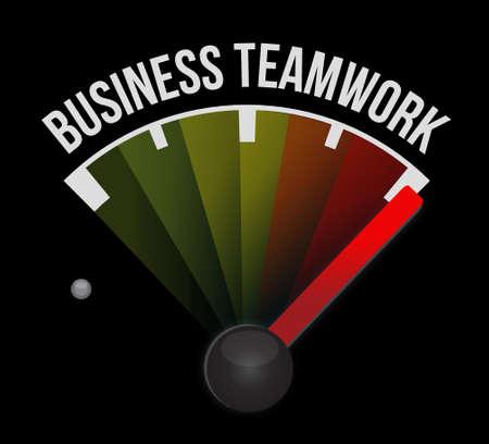 businessteam: business teamwork meter sign concept illustration design graphic