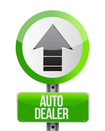 dealership: auto dealer up arrow sign concept illustration design graphic