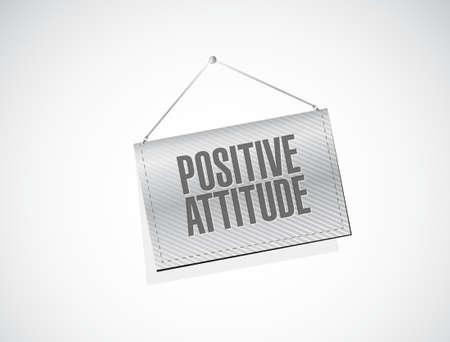 positive attitude: Positive attitude banner sign concept illustration design graphic