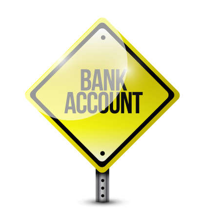 way bill: bank account yellow sign concept illustration design graphic