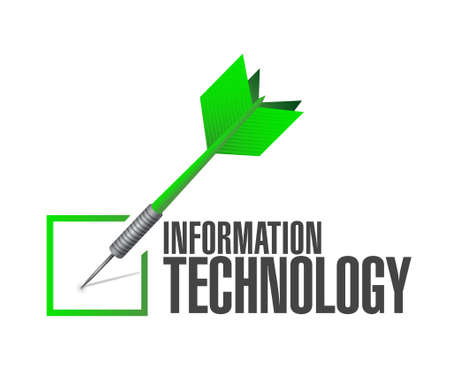 information design: information technology check dart sign concept illustration design graphic