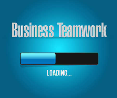 businessteam: business teamwork loading bar sign concept illustration design graphic Illustration