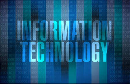 binary background: information technology binary background sign concept illustration design graphic