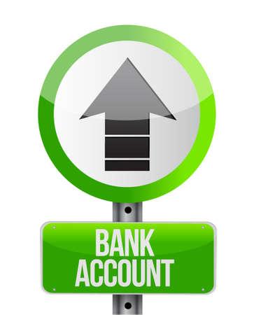 way bill: bank account arrow road sign concept illustration design graphic Illustration