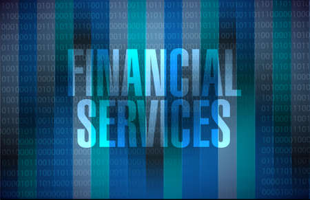 financial services binary sign concept illustration design graphic