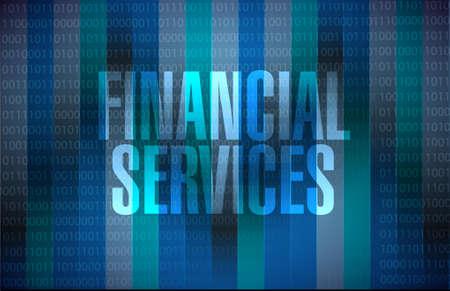 Servicios financieros señal binaria gráfico ilustración del concepto de diseño Foto de archivo - 46670029