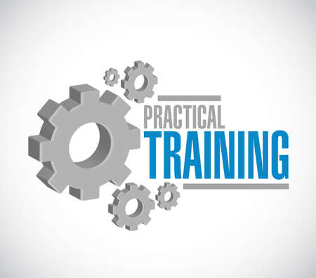 advantages: practical training gear sign concept illustration design graphic Illustration
