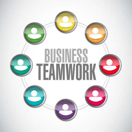 businessteam: business teamwork network sign illustration design graphic