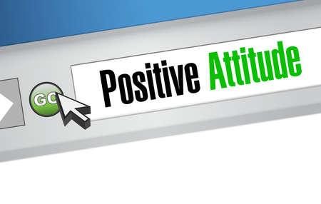 positive attitude: Positive attitude browser sign concept illustration design graphic
