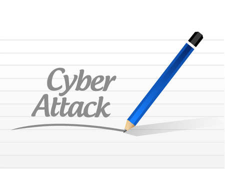 cyber attack: cyber attack message sign concept illustration design graphic Illustration