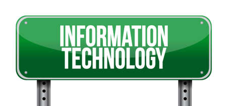 street sign: information technology street road sign concept illustration design graphic