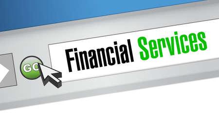 site: financial services online sign concept illustration design graphic