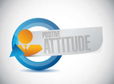 positive attitude: Positive attitude cycle avatar sign concept illustration design graphic Illustration