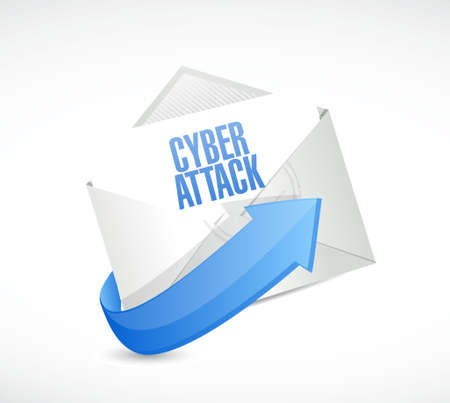 cyber attack: cyber attack mail sign concept illustration design graphic Illustration