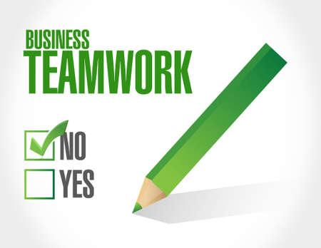businessteam: no business teamwork sign concept illustration design graphic