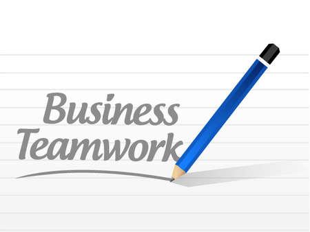 businessteam: business teamwork message sign concept illustration design graphic Illustration