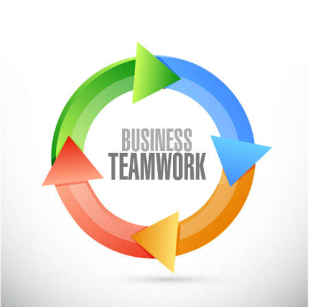 businessteam: business teamwork cycle sign concept illustration design graphic