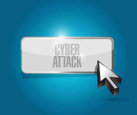 cyber attack: cyber attack button sign concept illustration design graphic Illustration