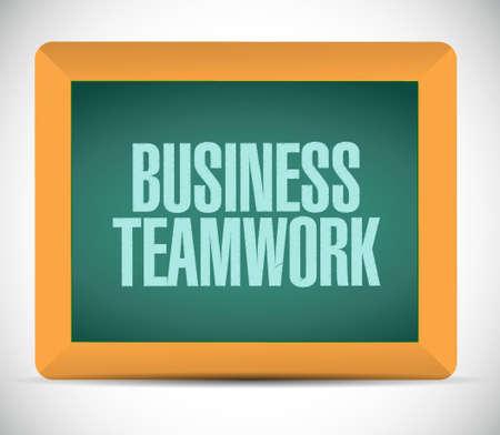 businessteam: business teamwork board sign concept illustration design graphic