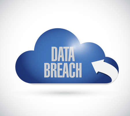 intentional: data breach cloud sign concept illustration design graphic