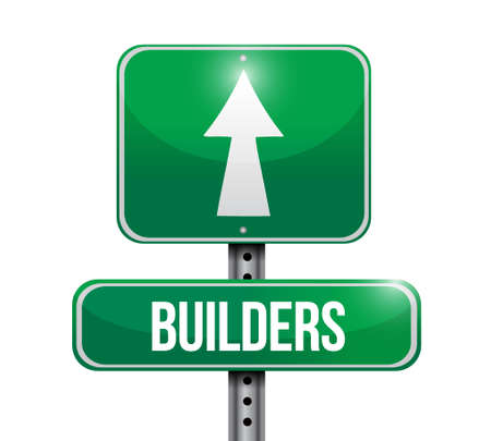 business graphics: builders road sign concept illustration design graphic