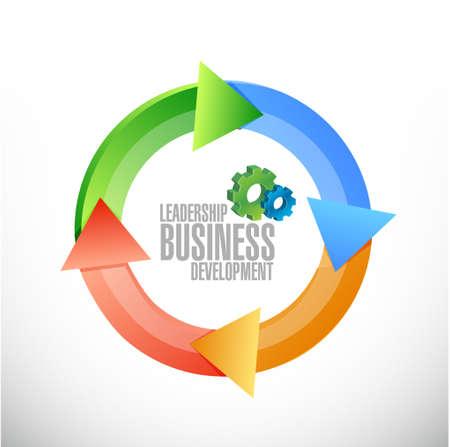 liderazgo: desarrollo de negocios de liderazgo, ilustración, diseño gráfico signo ciclo Vectores