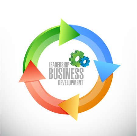 leadership: leadership business development cycle sign illustration design graphic