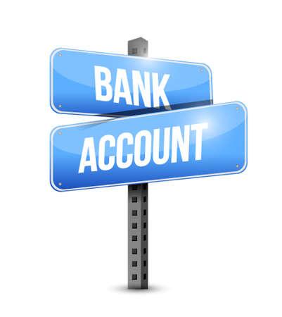way bill: bank account blue road sign concept illustration design graphic
