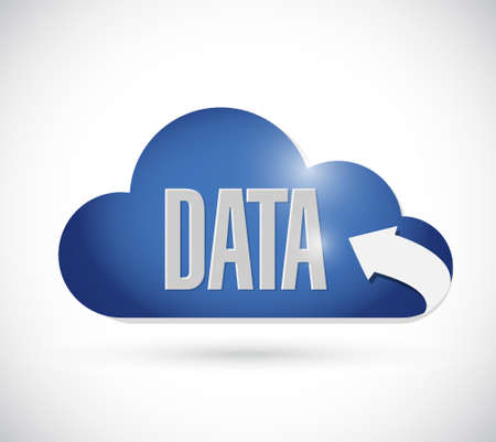synchronizing: data cloud sign concept illustration design graphic