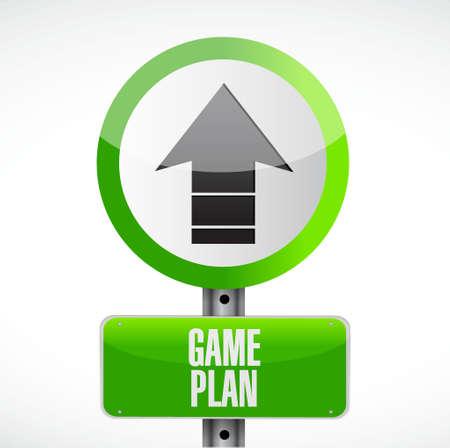 guidelines: Game plan road sign concept illustration design graphic