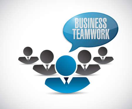 businessteam: business teamwork sign concept illustration design graphic