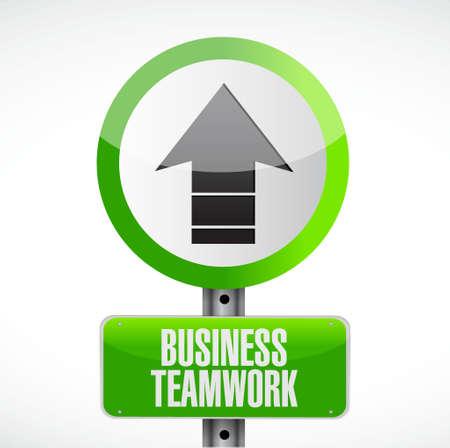 boardroom: business teamwork road sign concept illustration design graphic
