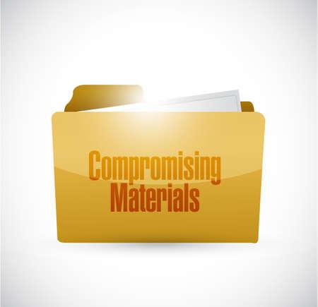Compromising materials folder sign illustration design graphic 일러스트
