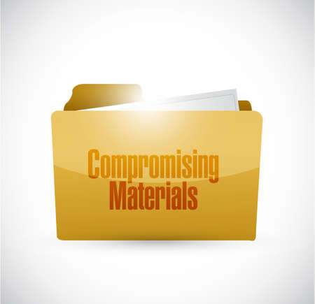 blackmail: Compromising materials folder sign illustration design graphic Illustration