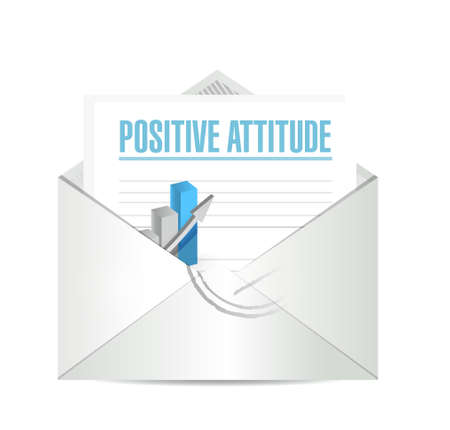 knowledge business: Positive attitude mail sign concept illustration design graphic