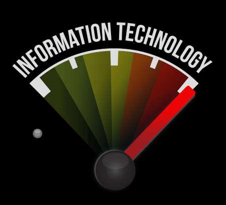 information design: information technology meter sign concept illustration design graphic
