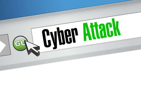 cyber attack: cyber attack online browser sign concept illustration design graphic Illustration
