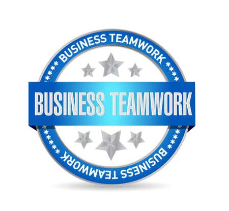 businessteam: business teamwork seal sign concept illustration design graphic