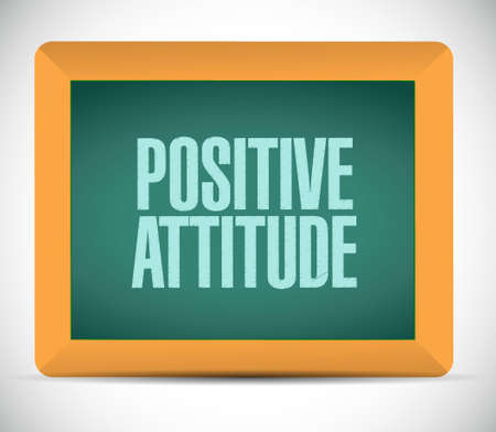 Positive attitude board sign concept illustration design graphic Çizim