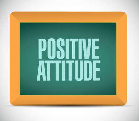 positive attitude: Positive attitude board sign concept illustration design graphic Illustration