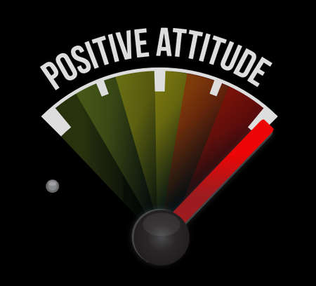 positive attitude: Positive attitude meter sign concept illustration design graphic Illustration
