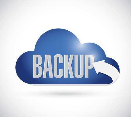 backup: backup cloud sign concept illustration design graphic Illustration