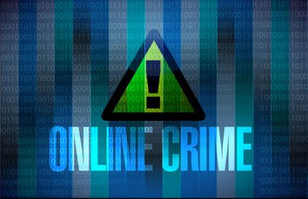 online crime warning binary sign concept illustration design graphic